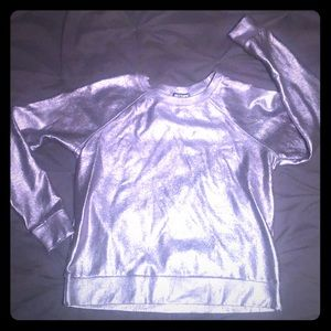 Hot Topic Sz LG Silver Sweater
